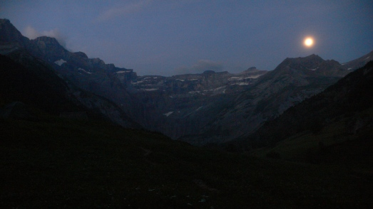 The Cirque de Gavarnie by moonlight