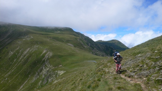 Matt leaves the main Fagaras ridge route